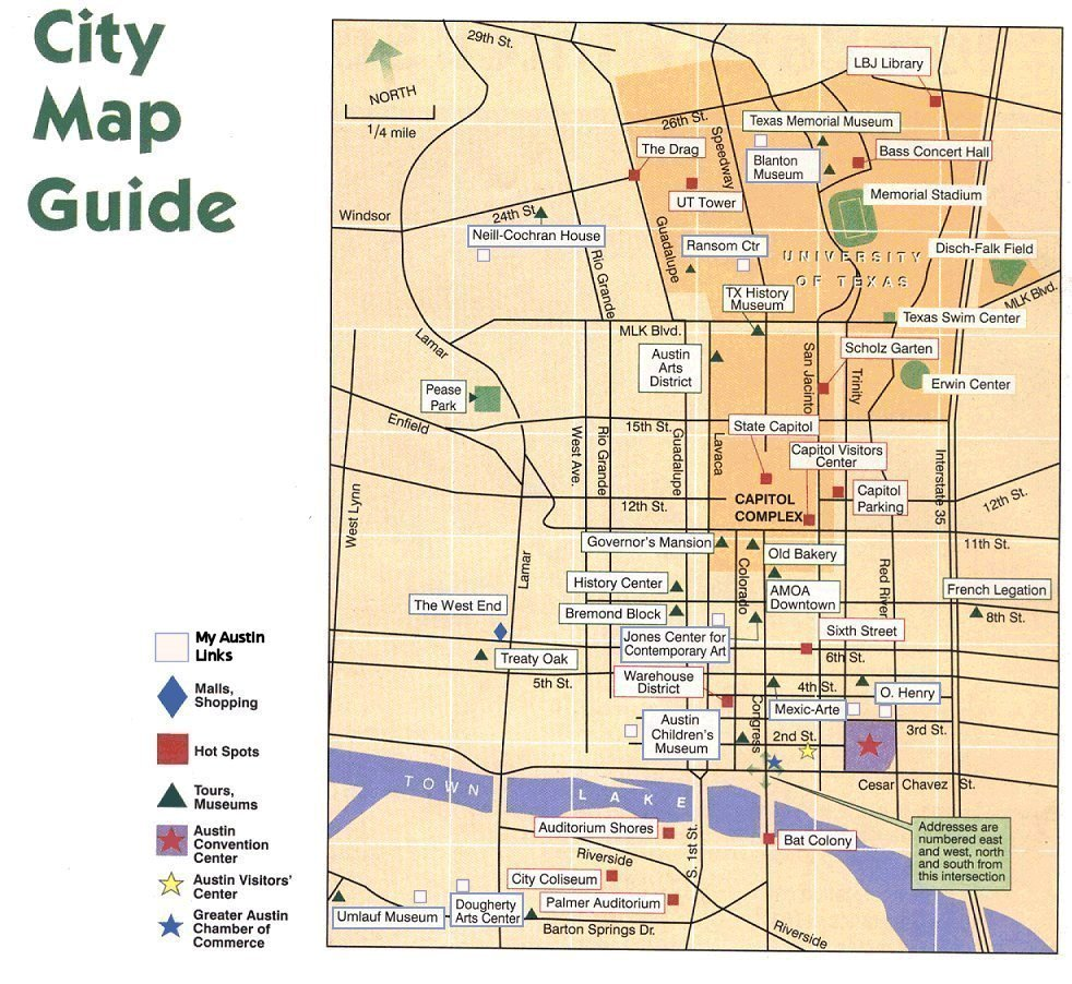 Austin Texas City Map Guide - Tx city map