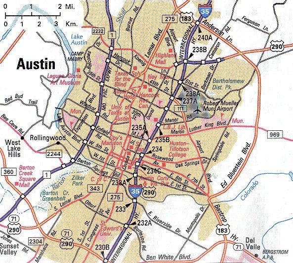 Austin Texas Metropolitan Map