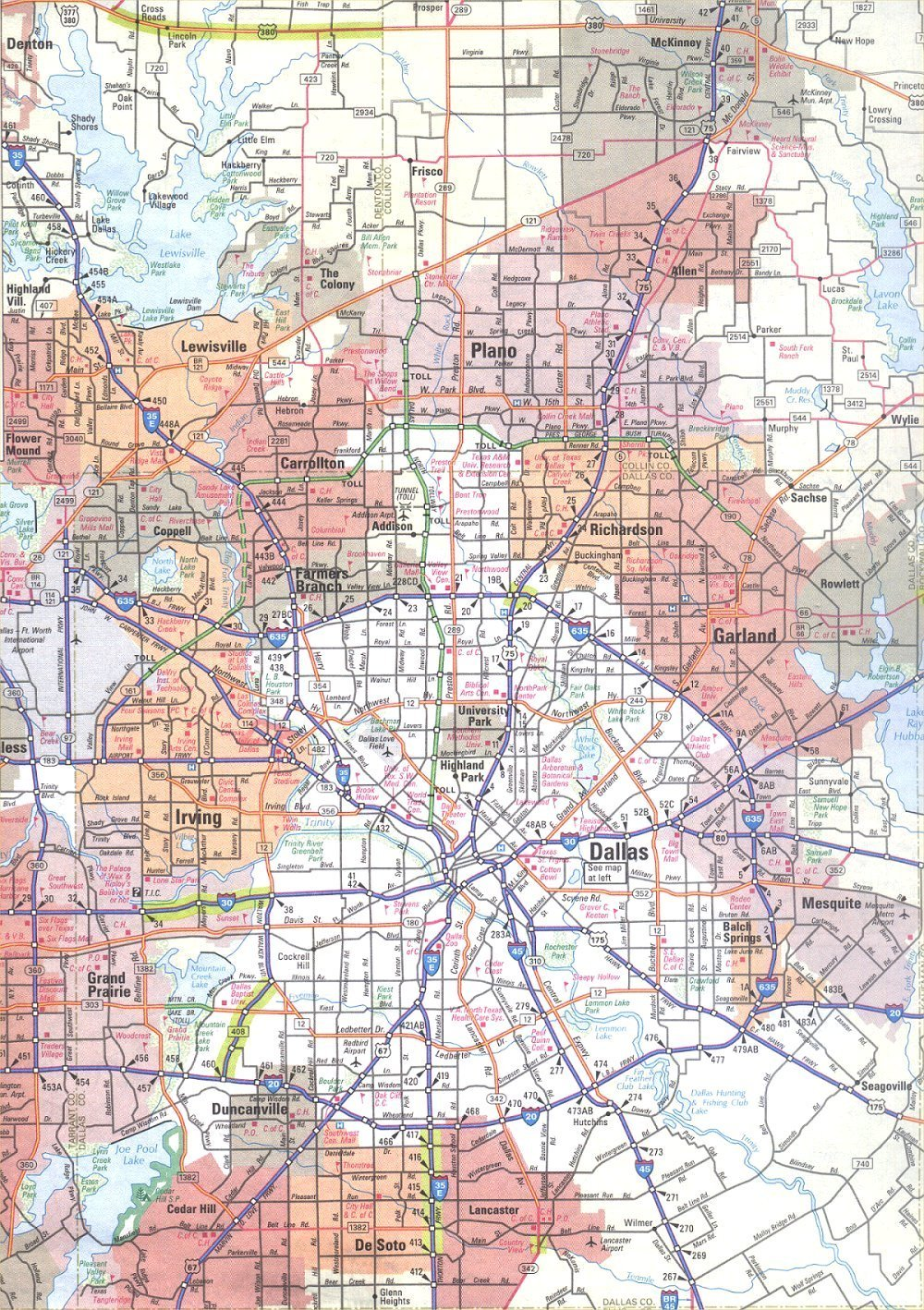 Map of Dallas Texas
