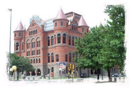 The Old Red County Courthouse, built in 1892 and  beautifully restored, is located in downtown Dallas � adjacent to the JFK Memorial and Dealey Plaza, across the street from John Neely Bryan�s cabin and just a block from The Sixth Floor Museum.