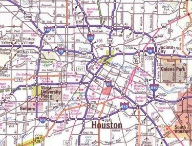 Escape To Houston Texas - Houston metro area map