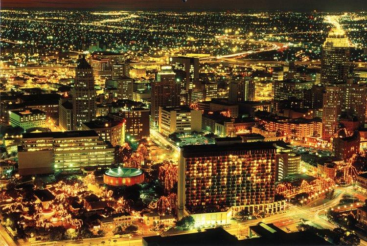San Antonio Texas Lights At Night