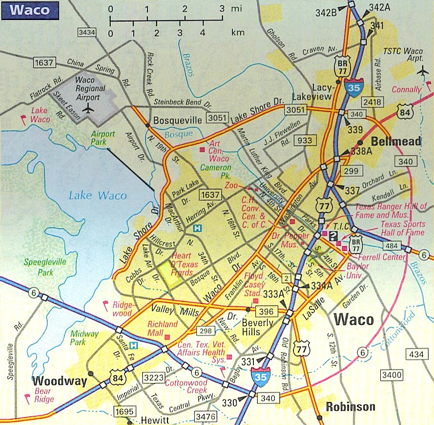 map of waco texas