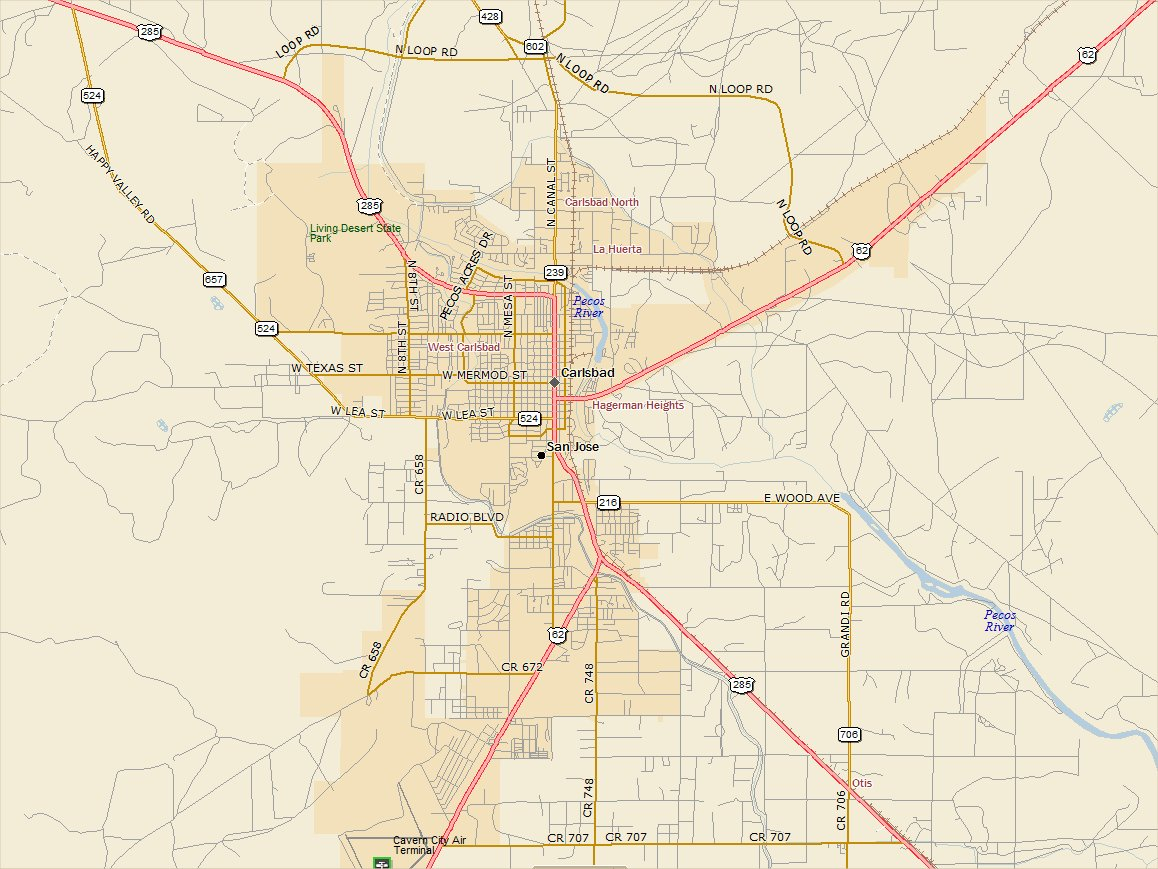 Carlsbad New Mexico Map