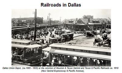 History of Railroads in Dallas