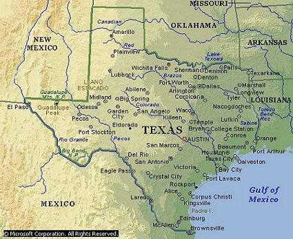 Smalltexasjpg - Texas rivers and lakes map