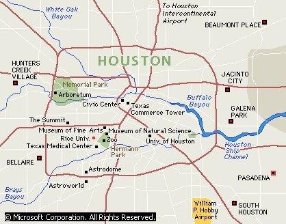 Bayous In Houston Map.Escape To Houston Texas